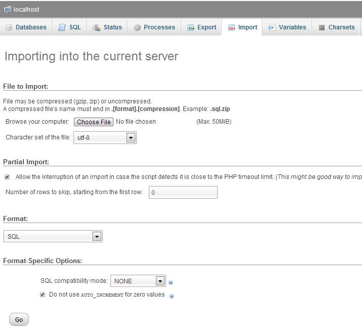 import-database