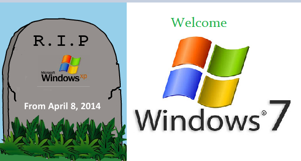 RIP windows Xp welcome windows 7